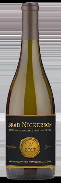 personalized graduation wine gift